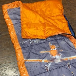 Kids sleeping bag. Dusty Orange/ gray size 28x56